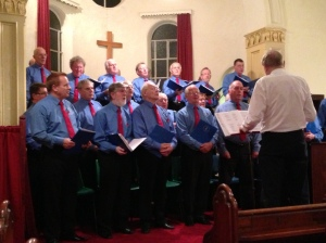 Chippenham Male Voice Choir singing at their concert in 2012